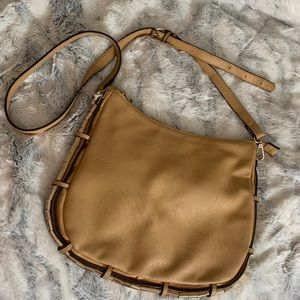 MMS Design Studio Tan Vegan Leather Shoulder Bag